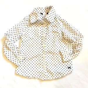 Gymboree polka dot button down shirt